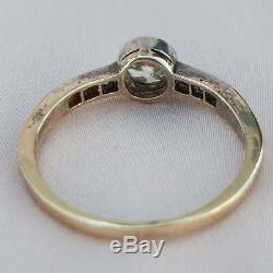 0.56 Old Cut Diamond Engagement Ring Edwardian Engagement Ring Antique Gold