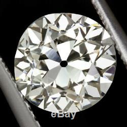 1.82ct GIA CERTIFIED OLD EUROPEAN CUT DIAMOND VINTAGE MINE EDWARDIAN ANTIQUE 2ct