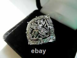 2.45 Ct Diamond Victorian Edwardian Decorative Engraved Ring 14k White Gold Over