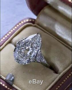 2.70 Carat Antique Style Genuine Pear Cut Diamond Engagement Ring Platinum