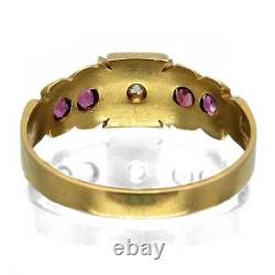 Antique Edwardian Ruby & Diamond Ring 1902 / 1903 SEE VIDEO