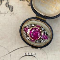 Antique Edwardian Ruby and Diamond Ring