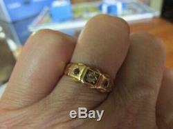 Antique Victorian / Edwardian 15ct gold Ruby and Diamond Ring Size UK M. USA 6
