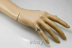 Antique Victorian Edwardian Engagement Ring 14K Yellow Gold Over 2.1 Ct Diamond