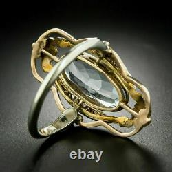 Antique Victorian Edwardian Engagement Ring 14K Yellow Gold Over 5.2 Ct Diamond