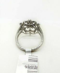Edwardian Vintage Cocktail Art Engagement Ring 14K White Gold Over 2.3Ct Diamond