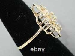 Engraved Victorian Edwardian Engagement Ring 14K Yellow Gold Over 3.1 Ct Diamond