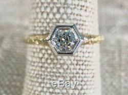 Ladies Vintage Platinum and Diamond CD Peacock Edwardian Engagement Ring