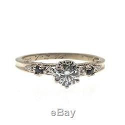 On This Day In 1916 Edwardian 18K Gold Diamond & Sapphire Ring