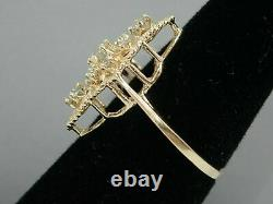 Victorian Edwardian Engagement Ring 1.2 Ct Round Diamond 14K Yellow Gold Plated
