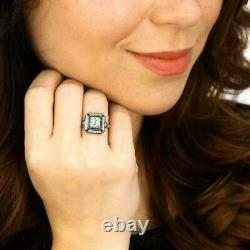 Victorian Edwardian Target Halo Engagement Ring 925 Sterling Silver 2 Ct Diamond
