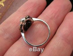 Vintage Art Deco Ring Edwardian Victorian Ring 3.1Ct Diamond 925 Sterling Silver