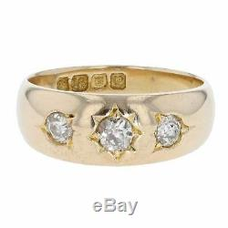 Vintage Edwardian Mens 18ct Yellow Gold 0.40cts Diamond Signet 1910 Ring Size N